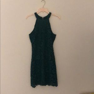 Green Halter Party Dress by Lulu's